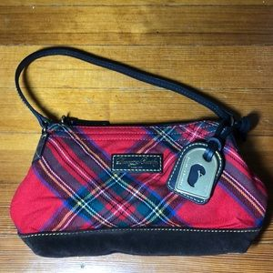 Dooney and Bourke red tartan hand bag